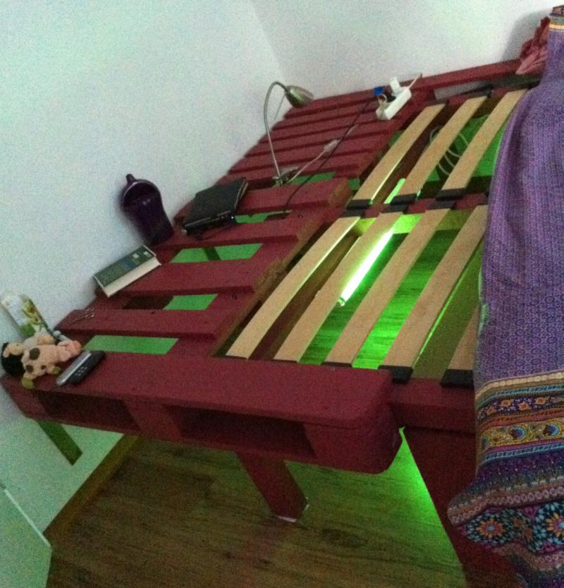 Palettenbett: Doppelbett, zerlegte Paletten - Palettenbett und ...