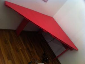 Pink Palettentisch, fertig, leer