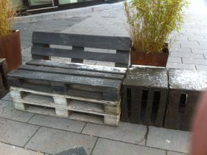 Outdoor-Möbel in Bochum: unbehandelt, Algen