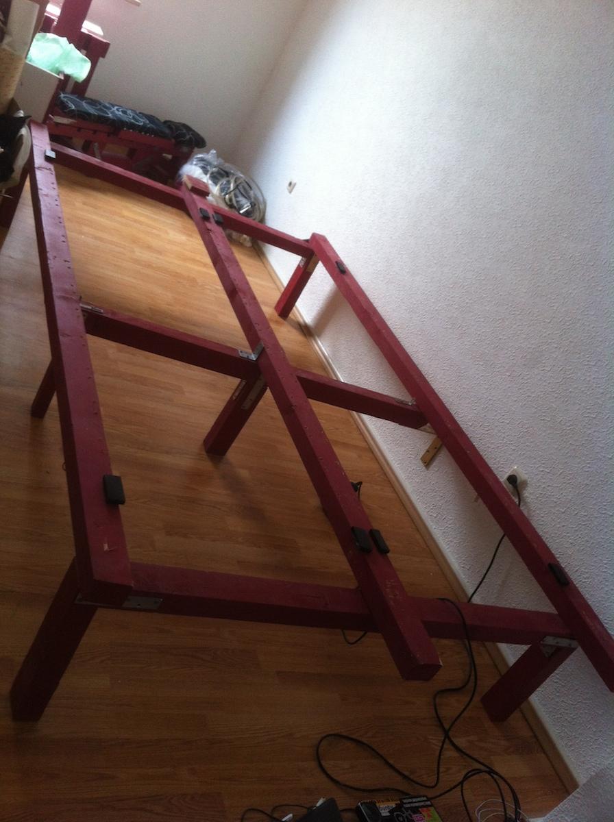 Palettenbett Doppelbett Umbau Tiefer Gelegt Palettenbett Und
