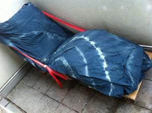 Paletten-Liegestuhl, gepolstert und mit Überwurf, fertiggestellt