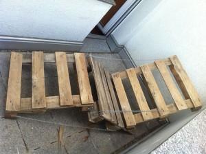 Gartenliegestuhl-Selbstbau: Spannversuch 2, besser
