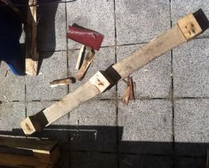 Einzelträger für das Fußteil des Lehnstuhls