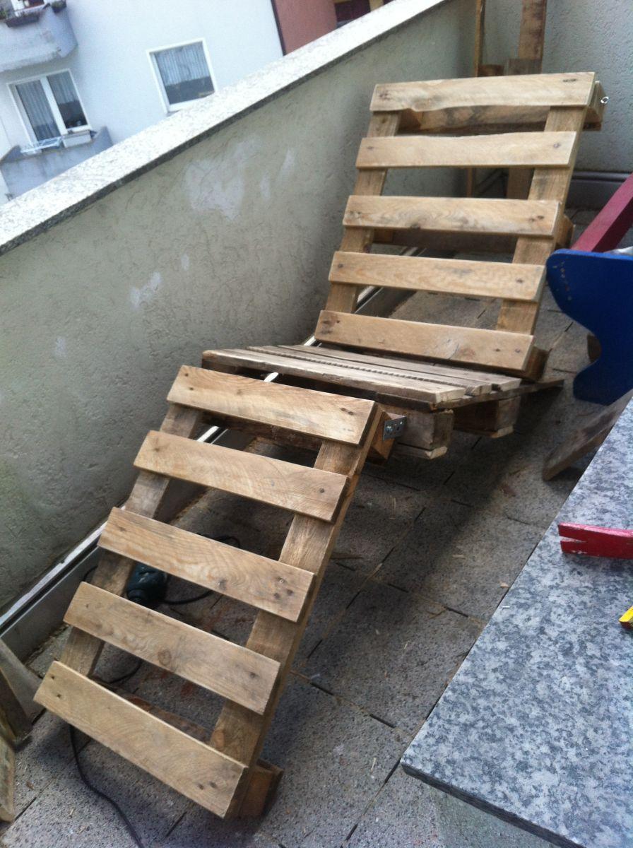 gartenmöbel selber bauen: lehnstuhl/gartenliege aus paletten 1, Best garten ideen