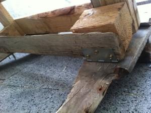 Paletten-Liegestuhl: Lehne montieren, 2