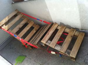Outdoor-Liegestuhl, wetterfeste Lasur
