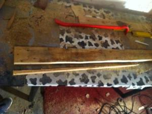 Arbeitsfläche Palettenschrank 2: Zusatzbrett zuschneiden