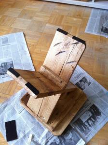 Holzschemel, Filzgleitermontage