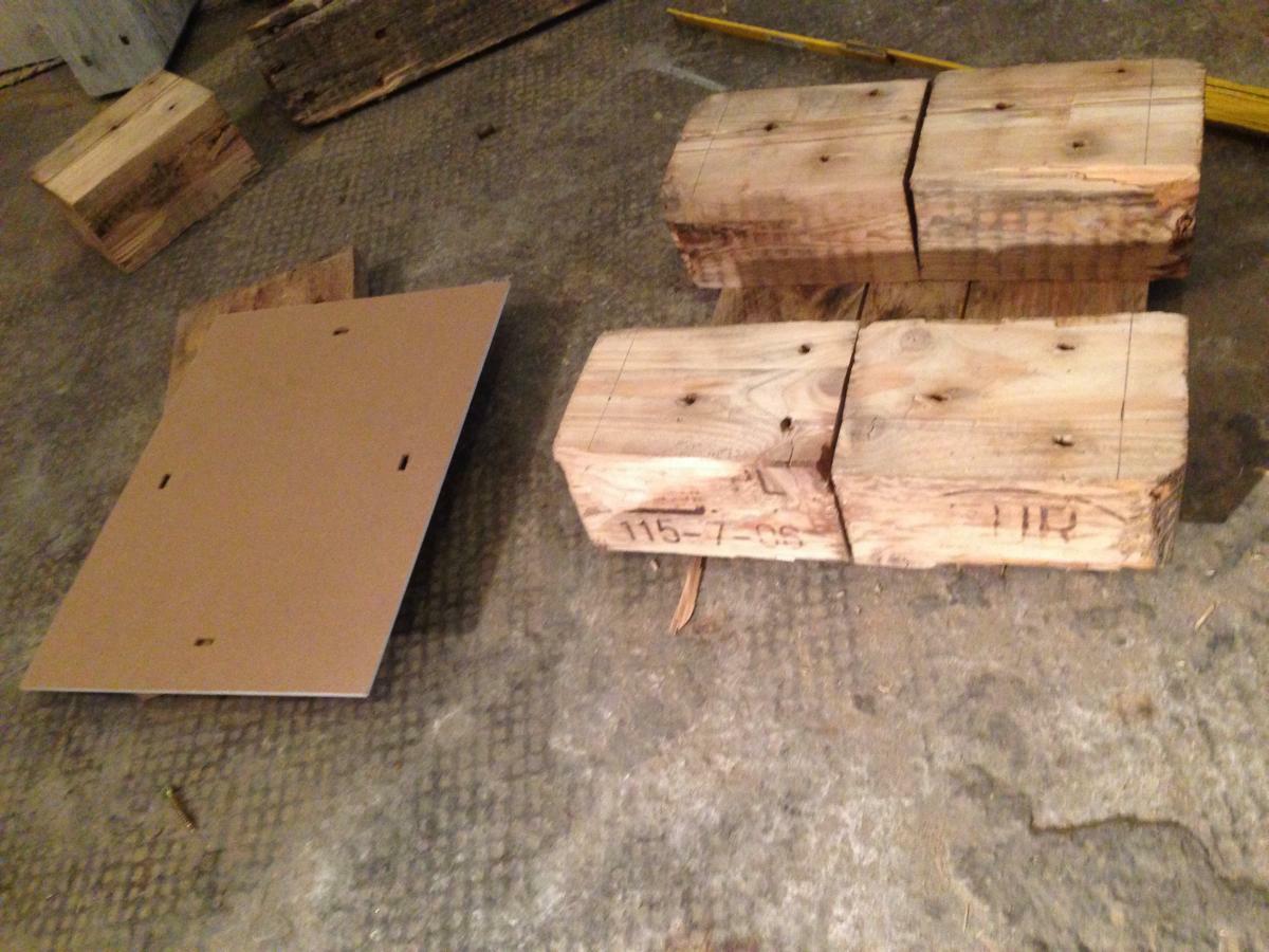 Windlicht aus Paletten 2: kleiner Beistellschrank selbst bauen ...