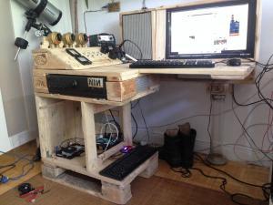 Schreibtisch, mit TOR-Server am Start