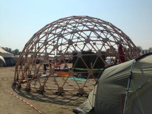 Geodome - Geodätische Kuppel auf dem cccamp15