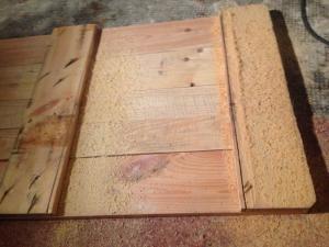 Palettentisch: Tischplatte, Unterbau zusägen