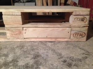 Tischplatte: Unterbau angepasst