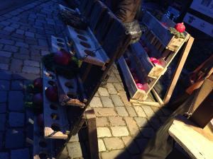 Palettenregale, Weihnachtsmarkt Wuppertal