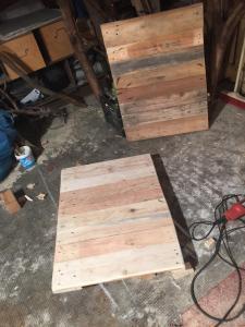 Tischplatte 1 geschliffen