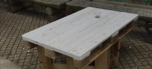 Tischplatte für draußen, zu dünn lasiert, neu