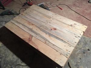 Tischplatte, 600er-Schliff, so gut es ging