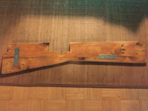 Hauptmonitorabdeckung Unterseite, 120er-Schliff, Olivenöl